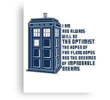 Doctor Who The Optimist Canvas Print