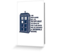 Doctor Who The Optimist Greeting Card