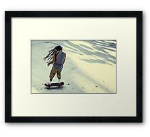 Skateboarder, Benjasiri Park, Bangkok Framed Print
