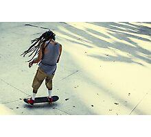 Skateboarder, Benjasiri Park, Bangkok Photographic Print