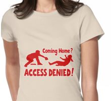 Access Denied2 , red Womens Fitted T-Shirt