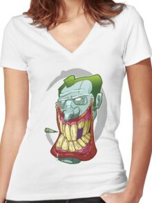 Smokin Joker Women's Fitted V-Neck T-Shirt