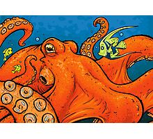 An Enormous Orange Octopus Photographic Print