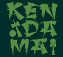 Kendama Block, neon green by gotmoxy