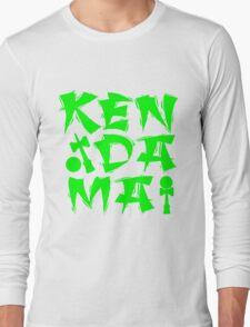 Kendama Block, neon green Long Sleeve T-Shirt