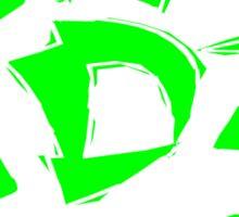 Kendama Block, neon green Sticker