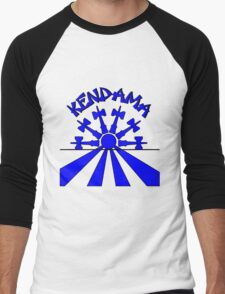 Kendama Sun, blue Men's Baseball ¾ T-Shirt