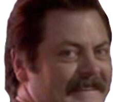 Ron Swanson's Head by arjacobs97