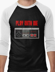 Play with me, NES controller. Men's Baseball ¾ T-Shirt