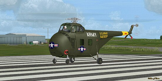 Sikorsky H-19 Chickasaw by Walter Colvin