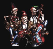 Psychobilly Skeletons by apocalypsebob