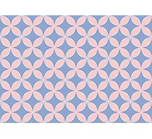 Abstract Frangipani Flower Pattern   Rose Quartz & Serenity   Pantone Colors of the Year 2016 Photographic Print