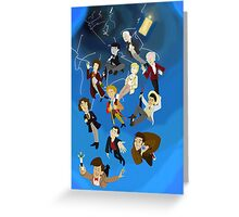 All the Doctors in the Vortex Greeting Card