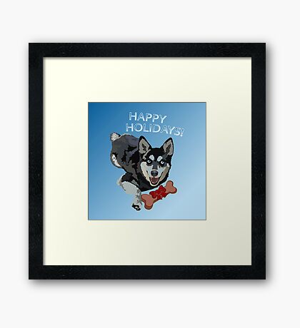 Happy Pup Holiday Framed Print