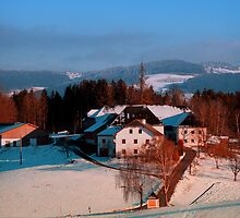 Village scenery in winter wonderland II | landscape photography by Patrick Jobst