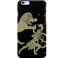 Fight with the lion iPhone Case/Skin