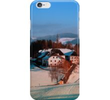 Village scenery in winter wonderland II | landscape photography iPhone Case/Skin