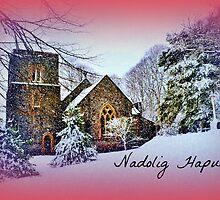 St Anne's Church, Talygarn - Cerdyn Nadolig by Paula J James