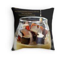 Baileys On Coffee Ice Cubes Recipe Card Throw Pillow