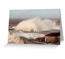 Storm Xavier Pounds Whitehaven Harbour Greeting Card