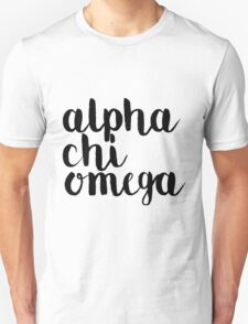 Alpha Chi Black Letters T-Shirt