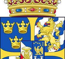 Greater Coat of Arms of Sweden Consisting of the Crowned Escutcheon  by abbeyz71
