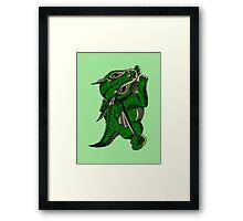 Emerald the Baby Dragon Framed Print