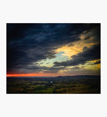 Wyrallah Sunset 1 Photographic Print