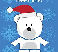 Polar Bear xmas card by Richard Darani