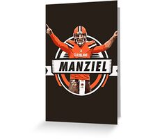 Johnny Manziel - Cleveland Browns Greeting Card