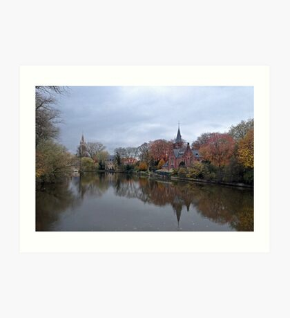 Bruges at Dusk Art Print