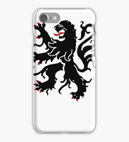 flanders lion sigil iPhone Case/Skin