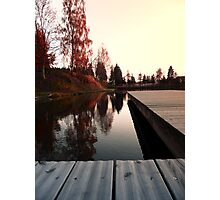 Romantic evening at the lake IV | waterscape photography Photographic Print