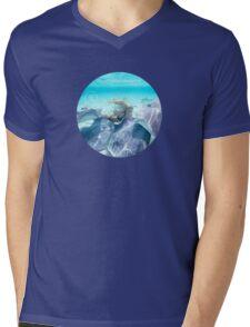 YL OCEAN Manta Rays Mens V-Neck T-Shirt