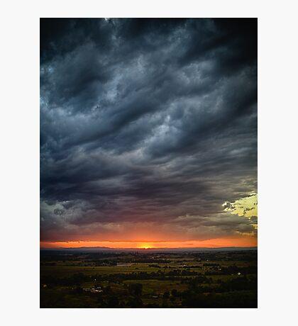 Wyrallah Sunset 3 Photographic Print