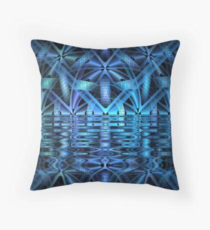 Blue Chamber Throw Pillow