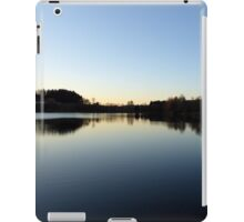 Indian summer sunset at the fishing lake IV | waterscape photography iPad Case/Skin