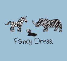 Unicorn & Rhino - Zebra Fancy Dress by jezkemp