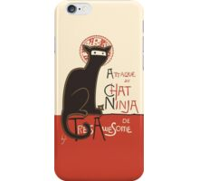 A French Ninja Cat (Le Chat Ninja) iPhone Case/Skin