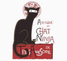 A French Ninja Cat (Le Chat Ninja) One Piece - Long Sleeve