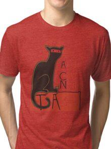A French Ninja Cat (Le Chat Ninja) Tri-blend T-Shirt