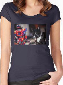 Bill V's Machine Women's Fitted Scoop T-Shirt