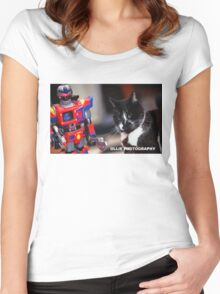 Bill V's Machine Women's Fitted Scoop T-Shirt