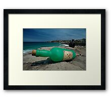 One Green Bottle @ Sculptures By The Sea Framed Print