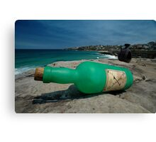 One Green Bottle @ Sculptures By The Sea Canvas Print