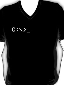 C:/> - MS-DOS Retro Computer Screen T-Shirt