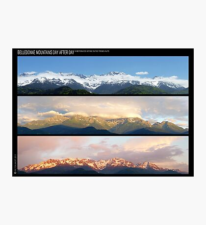 3 Panos of the Belledonne mountains.. motionless voyage Photographic Print