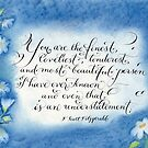 You are the Finest F. Scott Fitzgerald quote calligraphy art by Melissa Goza