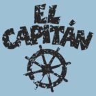 El Capitán Wheel Patina (Black) by theshirtshops
