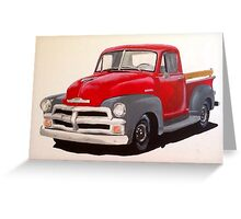 1954 Chevrolet Pick-up Truck Greeting Card